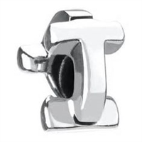 1/2 price- Chamilia Bead -Initial-T-Retired