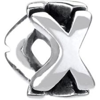 1/2 price- Chamilia Bead -Initial-X-Retired