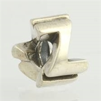 1/2 price- Chamilia Bead -Initial-Z-Retired