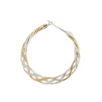 Mini Braided Bi-ColorHoop Earring