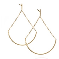 "22k Gold Plated Post Earrings- ""Cradle"""