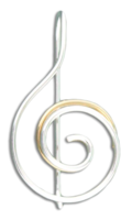 "Sterling Silver & Gold Fill ""Double Swirl"" Earrings"