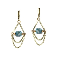 "Apatite Leverback Earrings- ""Swing"""