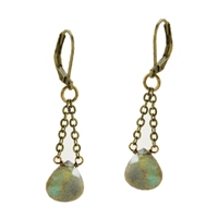 Labradorite Leverback Dangle Earrings