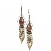 "Smoky Quartz Dangle Earrings- ""Smoky Fringe"""