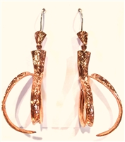 Copper Curl Drop Earrings