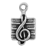 Sterling Silver Charm-Treble Clef