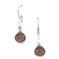 Smoky Quartz Dangle Earrings