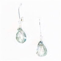 Green Quartz Dangle Earrings