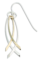 "Sterling Silver & Gold Fill ""CrissCross"" Earrings"