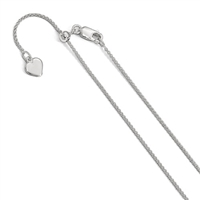 Sterling Silver Adjustable Spiga Chain