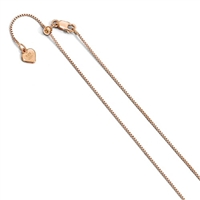 Rose Gold Filled Adjustable Box Chain