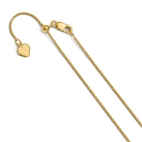 Gold Filled Adjustable Spiga Chain