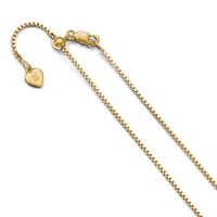 14k Gold Filled Adjustable Box Chain