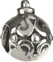 1/2 price- Chamilia Bead -Ornament Swirl-Retired
