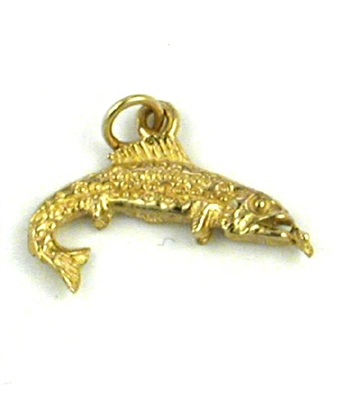 14K Gold Charm-Trout