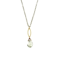 Green Amethyst Pendant Necklace
