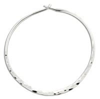 Hammered Round Hoop Earring