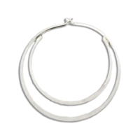 Flattened Double Hoop Earring