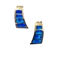 14k Gold Post Earrings -Australian Opal