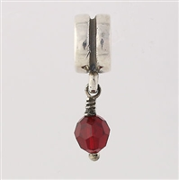 1/2 price-Chamilia Bead-January Birthstone Dangle-Retired