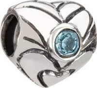 1/2 price- Chamilia Bead -December Birthstone Heart-Retired
