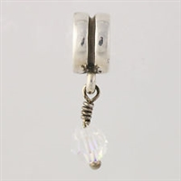 1/2 price- Chamilia Bead -April Birthstone Dangle-Retired