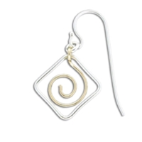 "Sterling Silver & Gold Filled ""Zoru Squared"" Earrings"