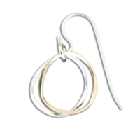 "Sterling Silver & Gold Filled ""Twin Link"" Earrings"