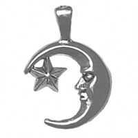Sterling Silver Charm-Moon & Star