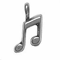 Sterling Silver Charm-Small Musical Note