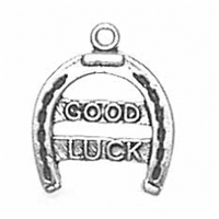 Sterling Silver Charm-Good Luck Horseshoe
