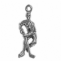 Sterling Silver Charm-Hockey Player