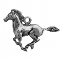 Sterling Silver Charm-Horse-Galloping Mustang