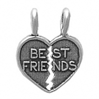 Sterling Silver Charm-Best Friends