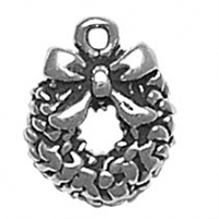 Sterling Silver Charm-Wreath