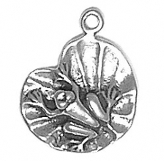 Sterling Silver Charm-Frog on Lily Pad