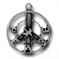 Sterling Silver Charm-Peace Symbol
