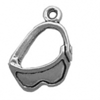 Sterling Silver Charm-Ski Goggles