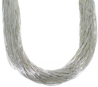 "24"" Liquid Silver Necklace-100 Strands"