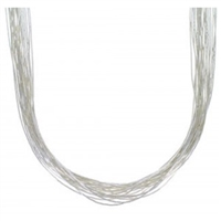 "16"" Liquid Silver Necklace-20 Strands"