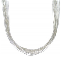 "20"" Liquid Silver Necklace-20 Strands"