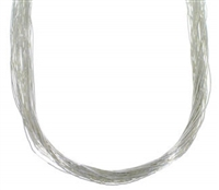 "24"" Liquid Silver Necklace-30 Strands"