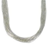 "24"" Liquid Silver Necklace-50 Strands"