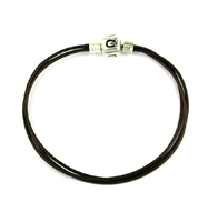 Original CHAMILIA Bracelet-Chocolate Leather 7.5 Inches
