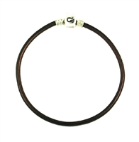 Original CHAMILIA Bracelet-Chocolate Leather 7.9 Inches