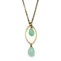 Seafoam Chalcedony Necklace- Love Anew