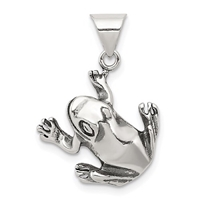 Sterling Silver Pendant- Frog