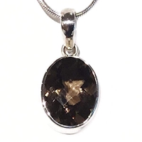 Sterling Silver Pendant- Smoky Quartz