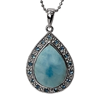 Sterling Silver Pendant/Necklace- Larimar